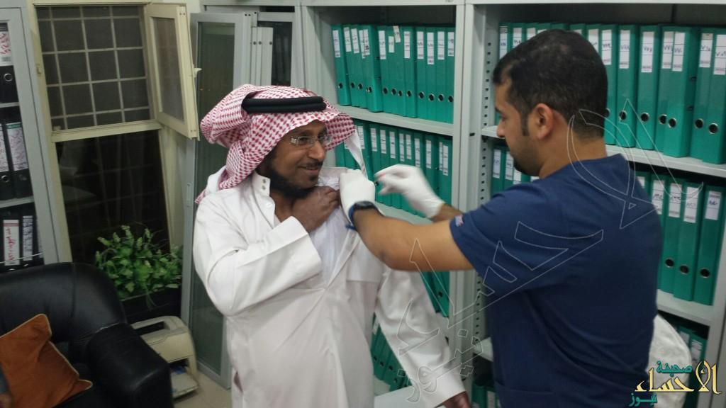 بالصور.. ختام حملة التطعيم ضد الانفلونزا الموسمية في خيرية العيون