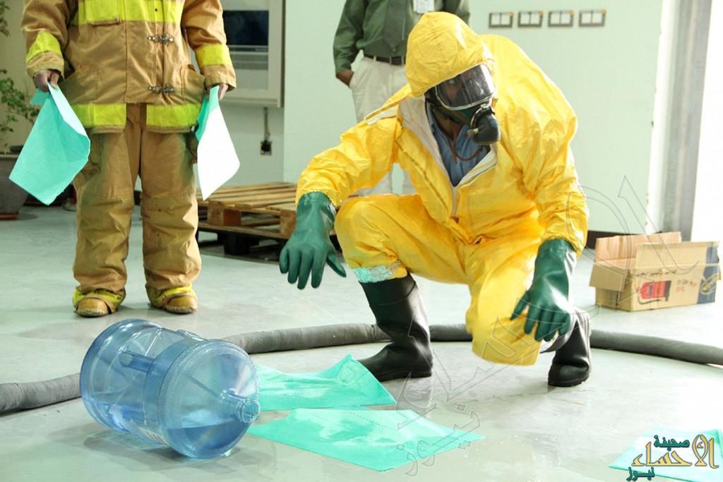 """بالصور.. """"انسكاب مواد كيميائية خطرة"""" فرضية بمستشفى """"الملك عبدالعزيز"""" بالأحساء"""