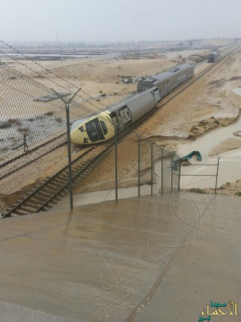 """بالصور .. """"الخطوط الحديدية"""" تكشف مسبّبات جنوح قطار  """"الرياض – الدمام"""""""