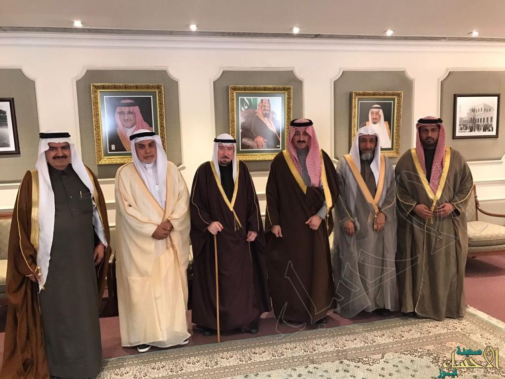 """بالصور.. الأمير """"بدر بن جلوي"""" يستقبل مستشار رئيس دولة الإمارات للشؤون الدينية والقضائية"""