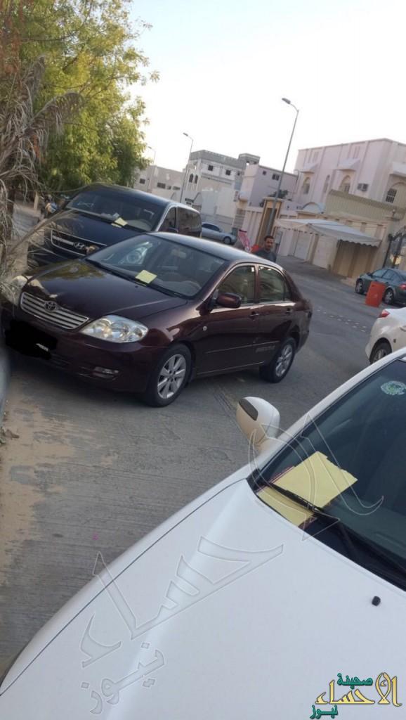 بالصور .. مخالفات بالكوم تُفاجئ سيارات حي كامل بالأحساء !!