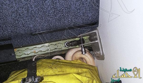 العثور على ثعبان أسفل مقعد طائرة !