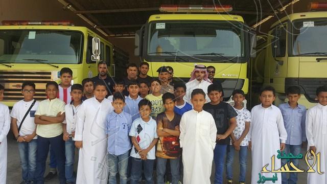 الدفاع المدني بالجفر يستقبل طلاب مدرسة أبي أيوب الأنصاري
