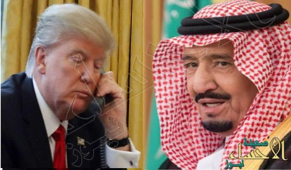 """""""ترمب"""" يطلع خادم الحرمين على تفاصيل """"ضربات سوريا"""" الأخيرة"""