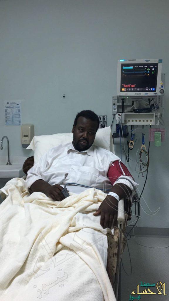 """⛔️ بالصور.. مستشفى """"الحرس الوطني"""" بالأحساء يستقبل """"متعب"""" لإنقاذ ساقه من البتر"""