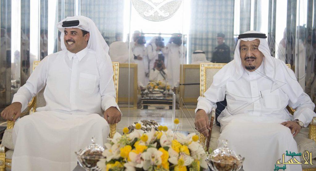 خادم الحرمين الشريفين يستقبل أمير دولة قطر ويقيم مأدبة غداء تكريما لسموه