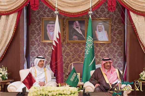 """اتفاق """"سعودي قطري"""" على تغليب الحكمة في معالجة أوضاع الدول الشقيقة"""
