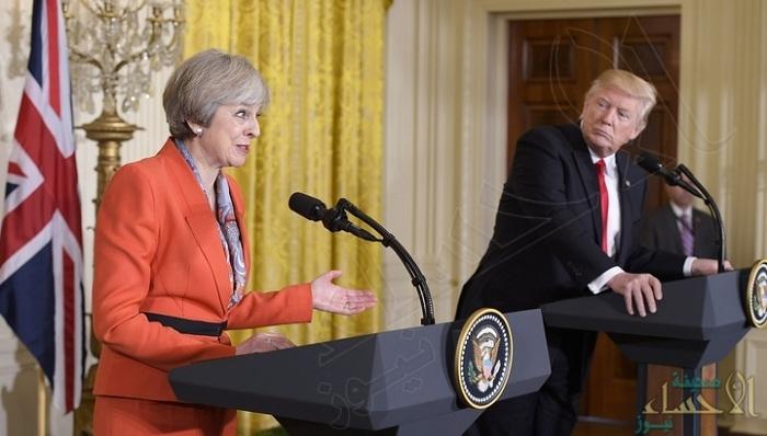 ترامب لتيريزا ماي: يجب العمل معاً لمحاسبة إيران