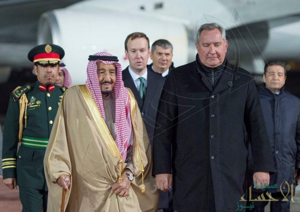 بالصور.. خادم الحرمين الشريفين يصل إلى روسيا