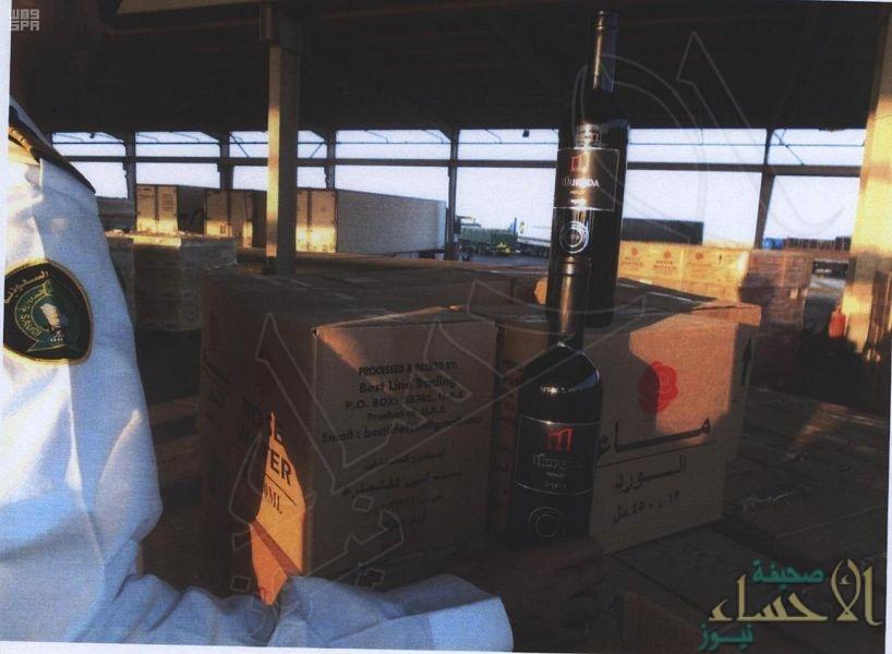"""جمرك البطحاء يحبط تهريب 15 ألف زجاجة خمر بإرسالية """"مياه ورد"""""""