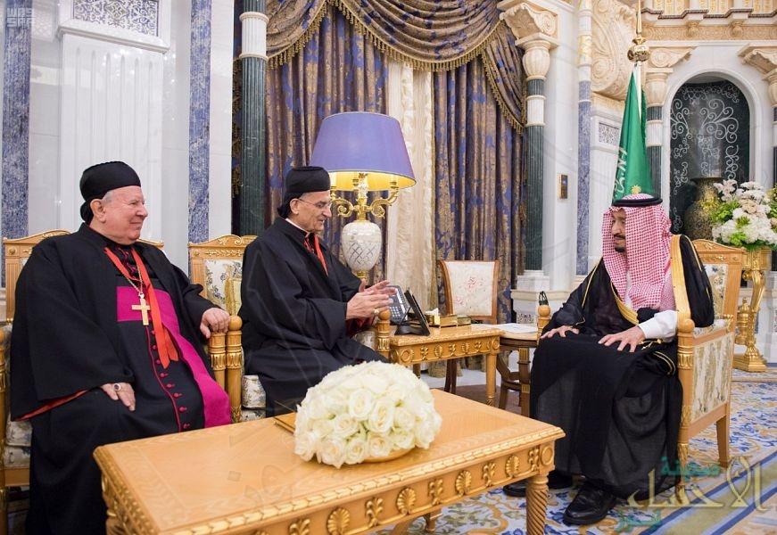 """خادم الحرمين يستقبل البطريرك اللبناني """"الراعي"""""""