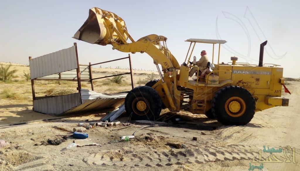 لجنة التعديات بالأحساء تسترجع أراضي حكومية بمساحة 77 مليون متر مربع