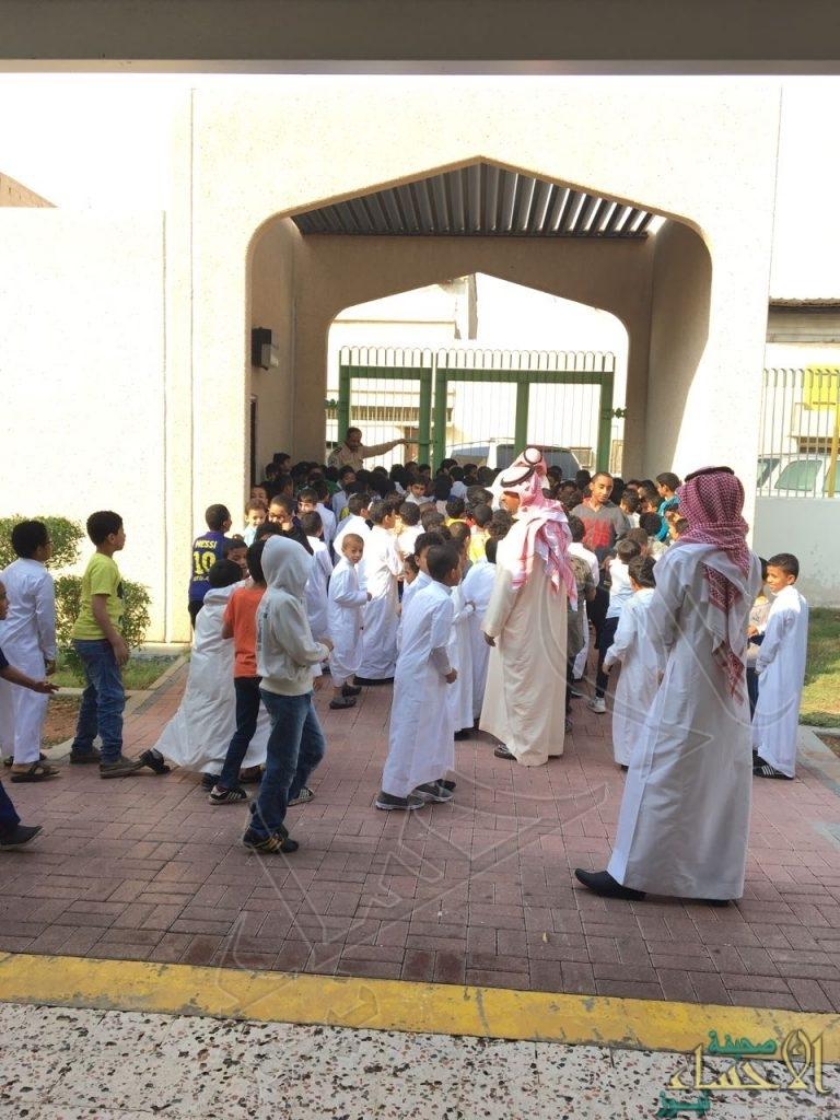 بالصور.. خطة إخلاء وهمية بمدرسة ابن مشرف الابتدائية