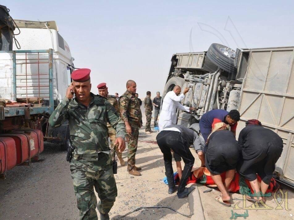 وفاة 5 كويتين وإصابة 13.. بانقلاب حافلتهم في العراق