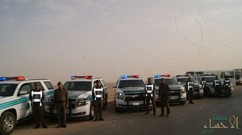 """قوات أمن الطرق الخاصة تغطي طريق """"الجشة – العقير"""""""