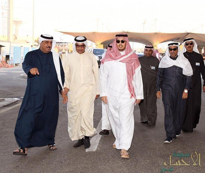 بالصور… نائب أمير الشرقية يتفقد مرافق #جسر_الملك_فهد