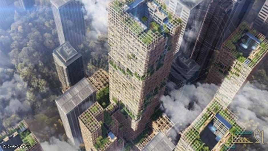 """بطول 70 طابق .. اليابان تبني أطول ناطحة سحاب """"خشبية"""" في العالم !!"""