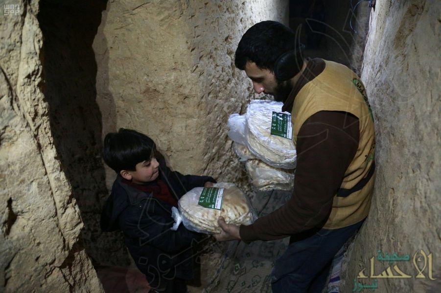 بالصور.. #مركز_الملك_سلمان_للإغاثة يواصل توزيع مساعداته داخل الأنفاق لمنكوبي #الغوطة_الشرقية