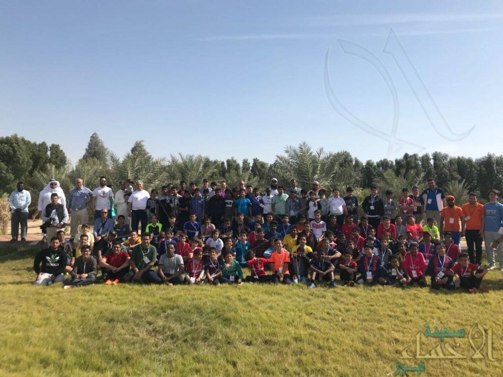 """بالصور… """"تعاوني الأحساء"""" يختتم فعاليات المخيم الشبابي الدولي بحضور أكثر من 120 طالب"""