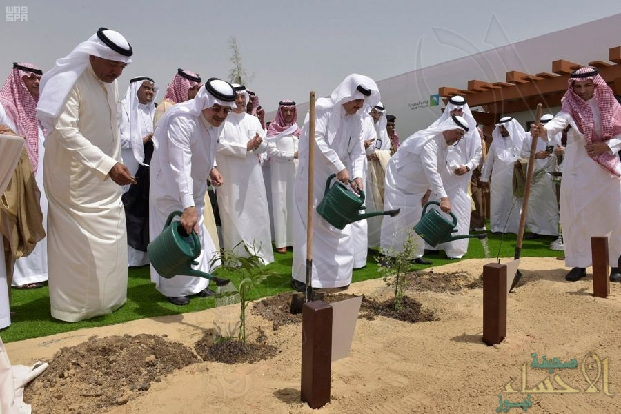 """بالصور.. الأمير """"سعود بن نايف"""" يرعى مبادرة """"أرامكو السعودية"""" لزراعة مليون شجرة"""