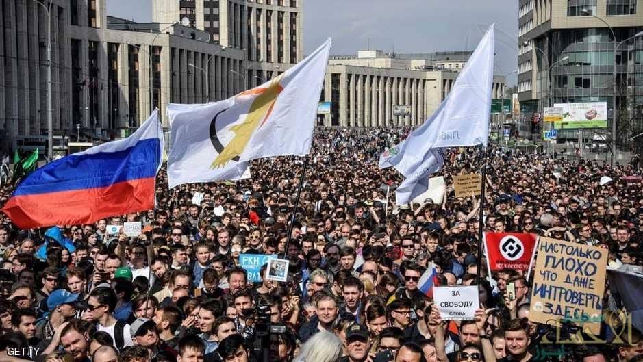 """تليغرام"" يشعل تظاهرات في روسيا"