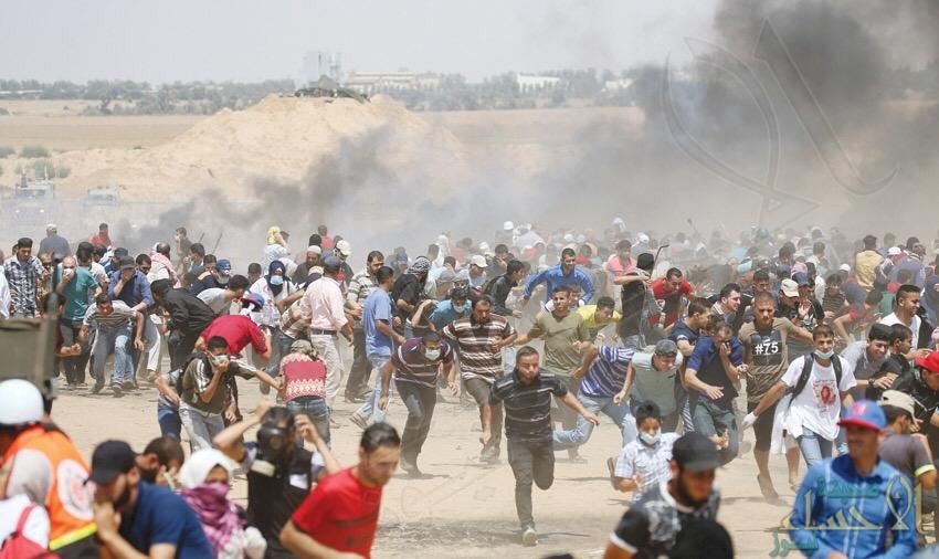 """استشهاد ٣ فلسطينيين برصاص الاحتلال في """"جمعة مليونية القدس"""" بغزة"""