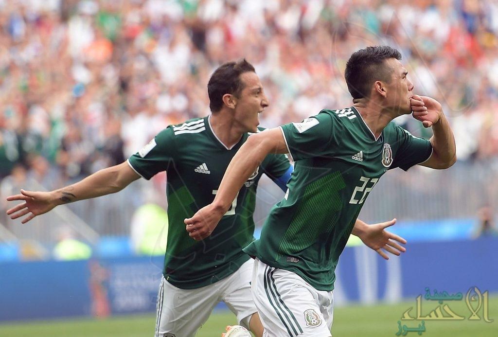 """بالصور .. """"المكسيك"""" تفجر أولى مفاجأة """" مونديال روسيا"""" وتحقق الفوز على حساب ألمانيا"""