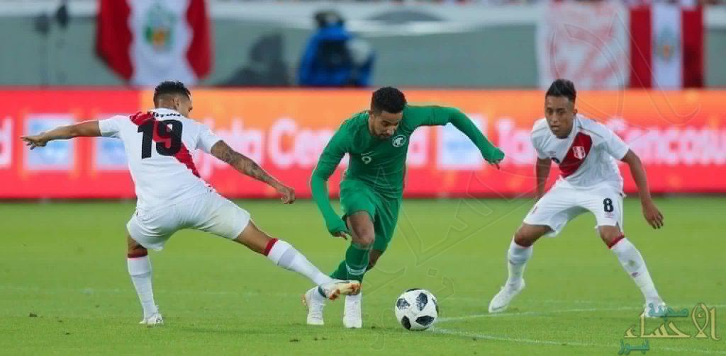 بالصور .. ضمن الاعداد لمونديال روسيا 2018 : المنتخب السعودي يخسر بثلاثية نظيفة امام بيرو
