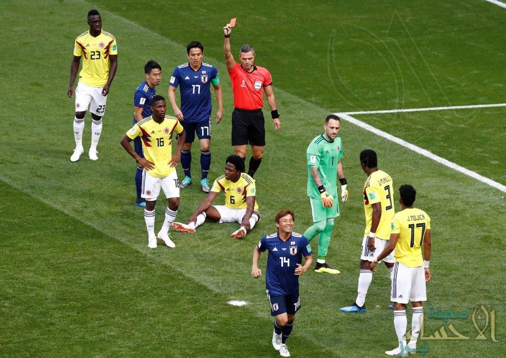 """تُعد البطاقة الحمراء الأولى في المونديال """"أرقام قياسية لكارلوس سانشيز"""" بعد الطرد أمام اليابان"""