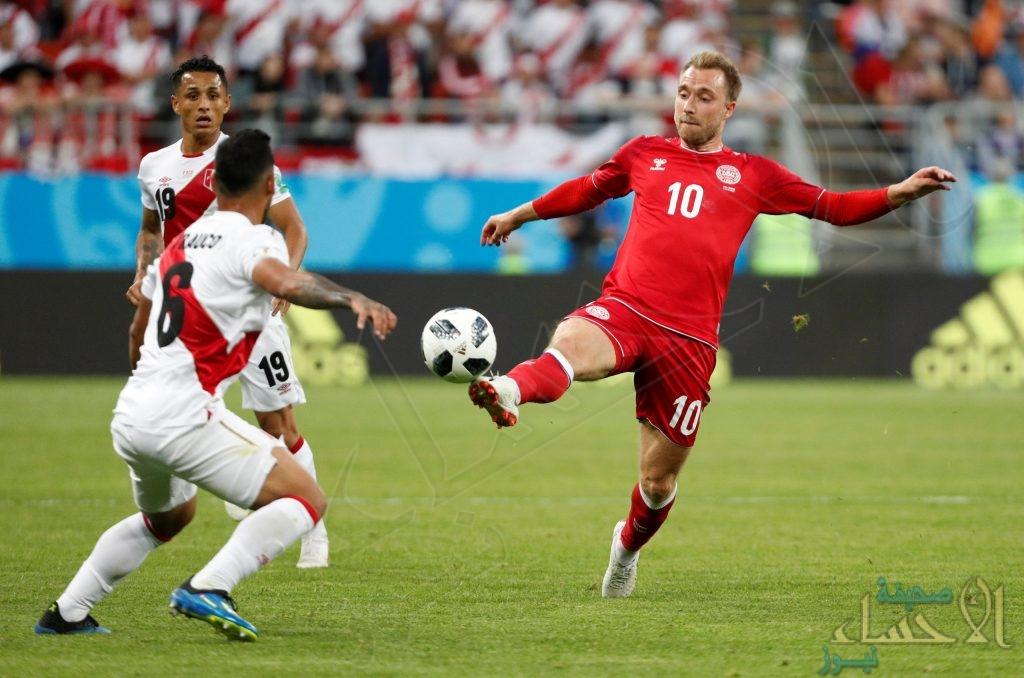 الدنمارك يفوز بصعوبه على بيرو بهدف نظيف