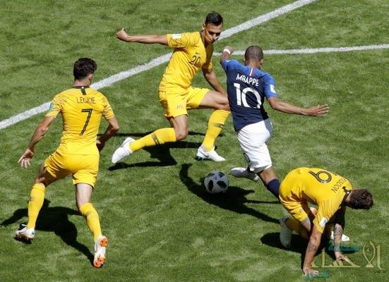 بالصور .. منتخب فرنسا ينتصر على استراليا بهدفين لهدف ضمن منافسات المجموعة الثالثة