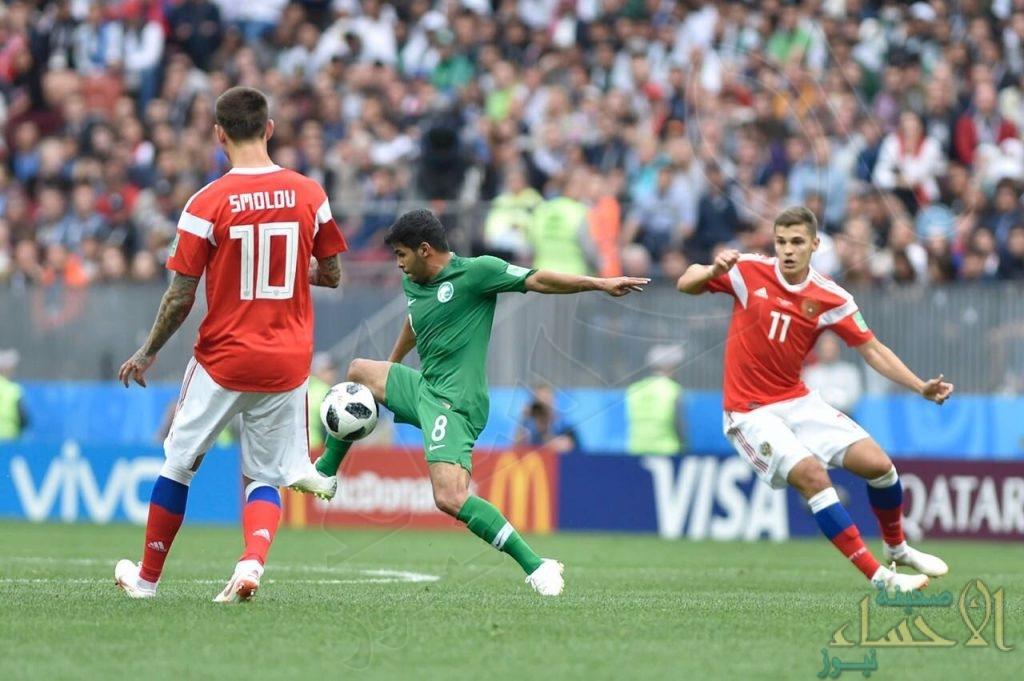 بالصور .. سقوط مدوي للمنتخب السعودي أمام روسيا في المباراة الافتتاحية لمونديال 2018