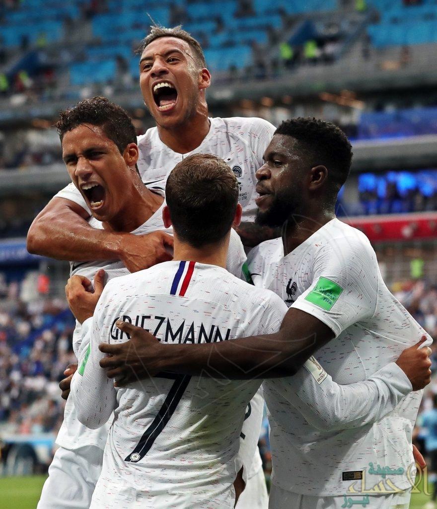 بالصور.. فرنسا تتأهل لدور نصف النهائي عقب تجاوزها اوروغواي بهدفين نظيفين