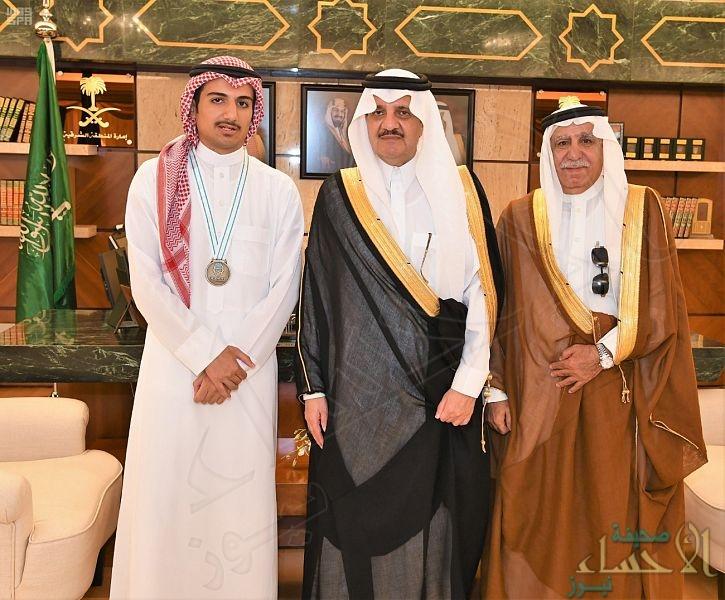 """الأمير """"سعود بن نايف"""" يستقبل ابن الأحساء """"الملحم"""" الحاصل على فضية """"أولمبياد الكيمياء"""""""