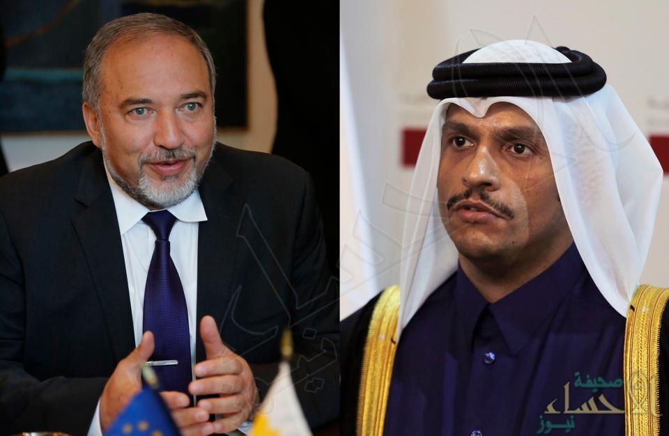 إسرائيل تكشف عن لقاء وزير دفاعها سراً بوزير خارجية قطر