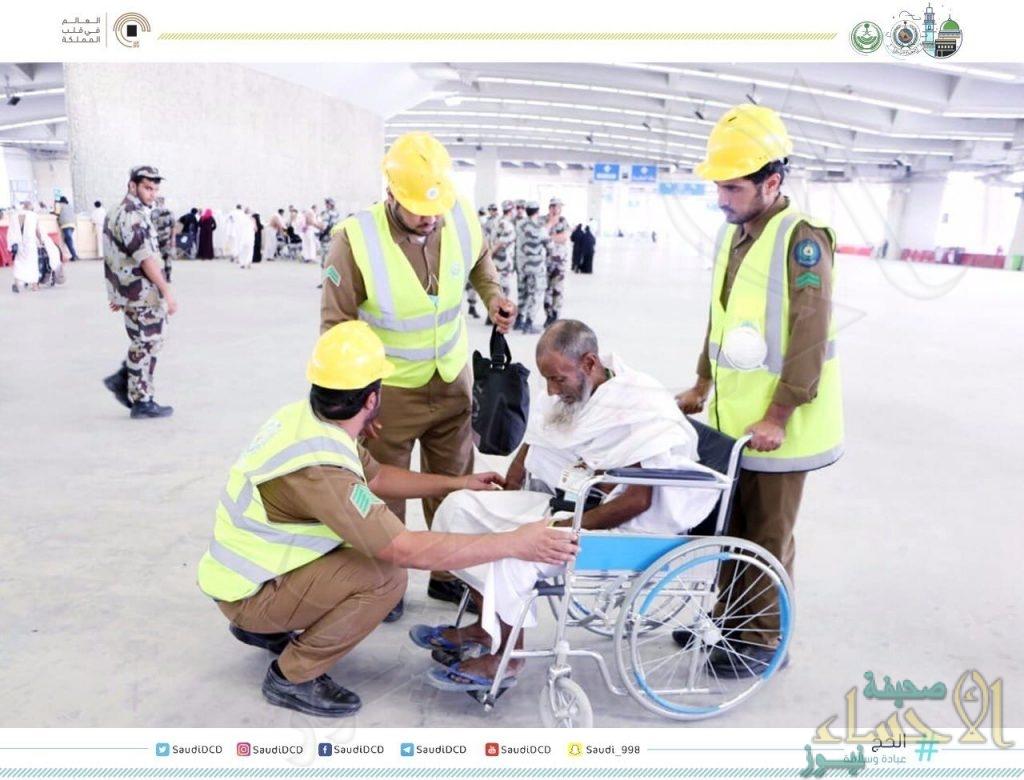 """بالصور.. """"الدفاع المدني"""": 50 نقطة إنقاذ لخدمة الحجاج في المسجد الحرام"""