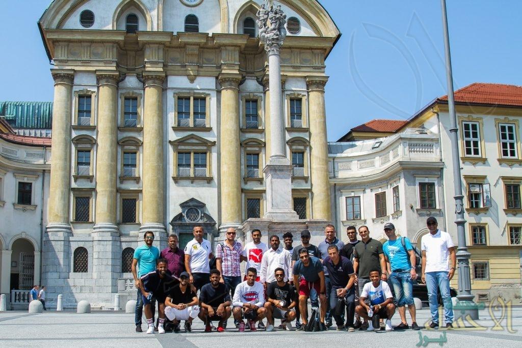 """لاعبو """"النموذجي"""" يستمتعون بمعالم """"سلوفينيا"""" استعداداً للقاء """"أوسييك"""" اليوم"""
