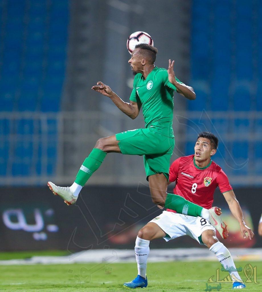 بالصور .. المنتخب السعودي يتعادل ودياً مع بوليفيا بهدفين