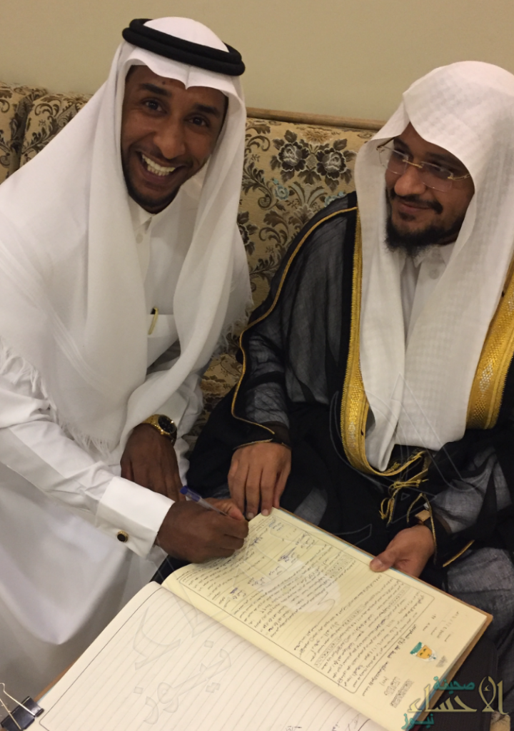 """بن هندي"" تحتفل بعقد قران ابنها "" عبدالرحمن"""