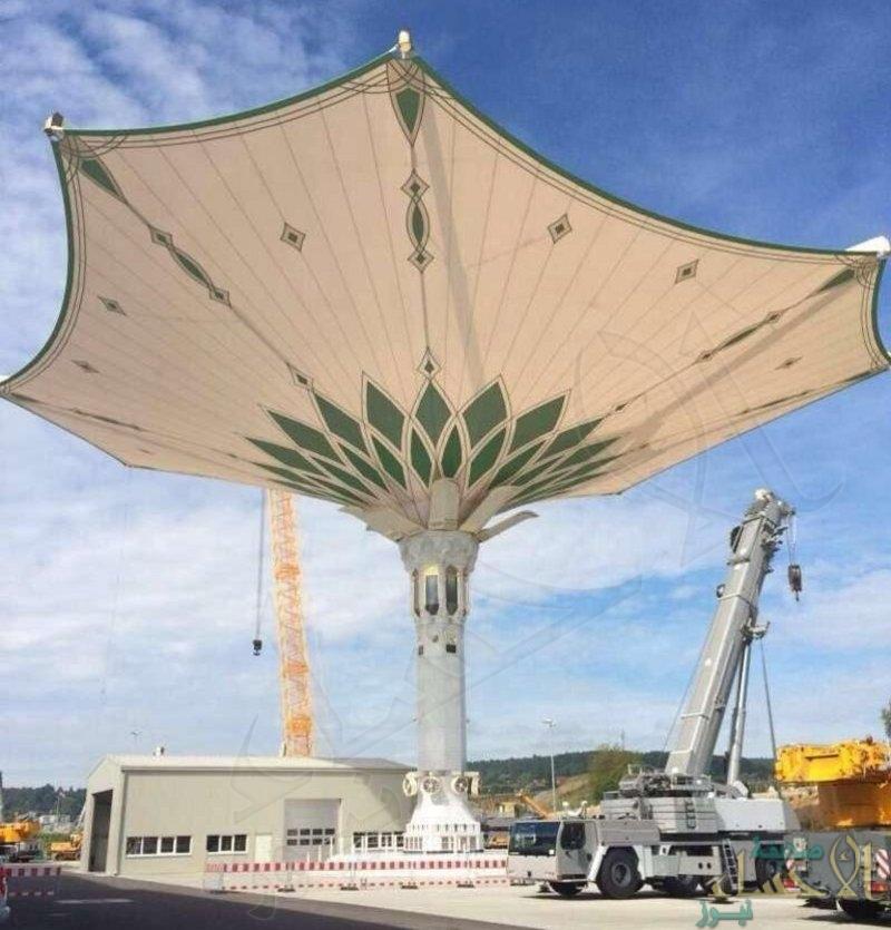 المسجد الحرام.. استعدادات نهائية لتركيب أكبر مظلة في العالم !