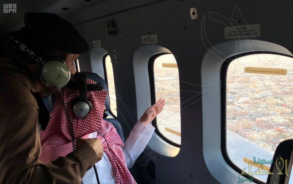 نائب أمير الشرقية يتفقد مواقع تجمعات المياه وحركة السير المروري بالمنطقة