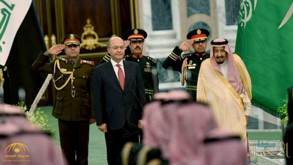 خادم الحرمين الشريفين يعقد جلسة مباحثات مع الرئيس العراقي