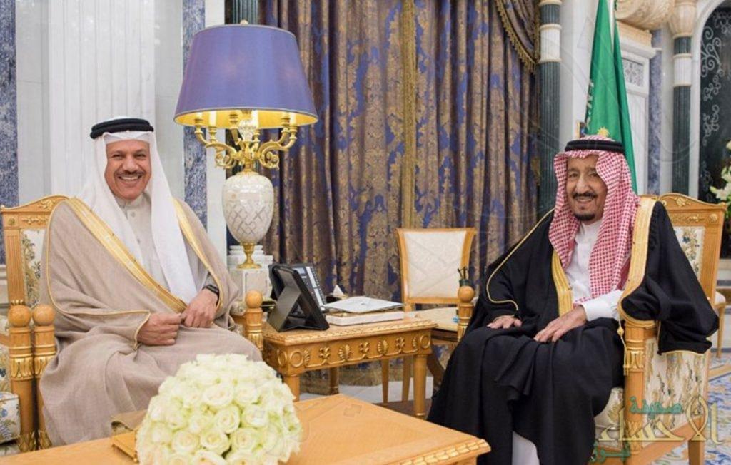 خادم الحرمين يستقبل الأمين العام لمجلس التعاون