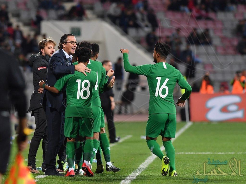 بالصور .. المنتخب السعودي يتعادل وديًا أمام الأردن