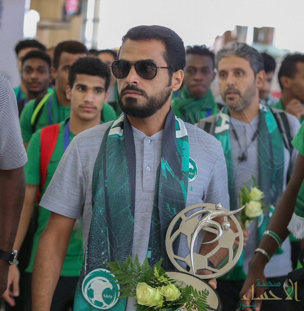 """في 40 صورة… هكذا استقبلت الرياض صقور """"الأخضر"""" الشاب أبطال آسيا"""