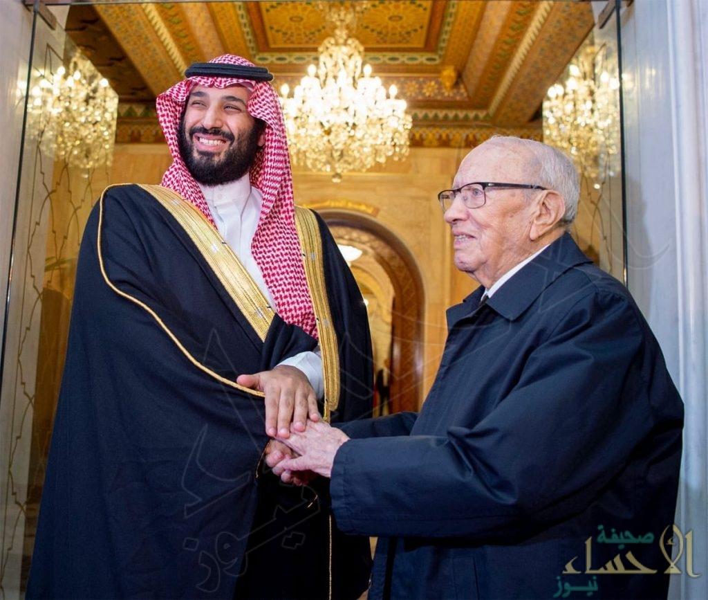 شاهد.. هذا ما قاله الرئيس التونسي عن زيارة ولي العهد لبلاده