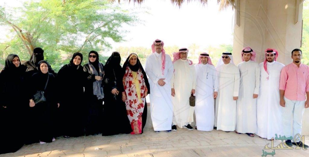 """بالصور.. وفد بحريني من """"الوالدين"""" يزور الأحساء و يستمتع بمعالمها"""