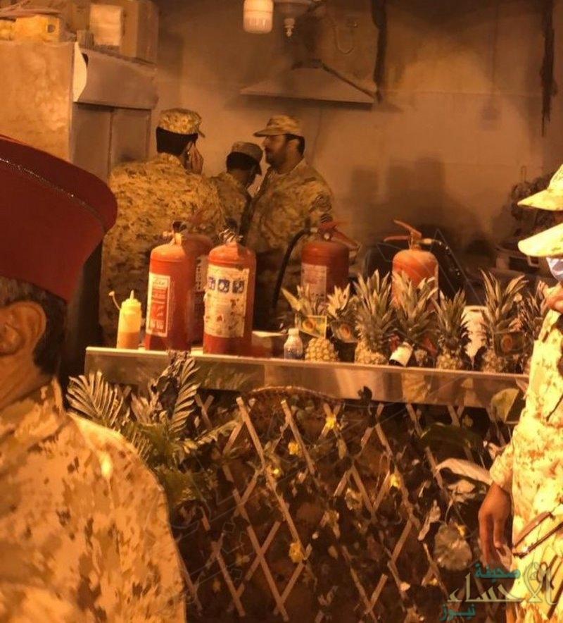 """كشف تفاصيل الحريق الذي وقع بـ""""الجنادرية"""" أمس الجمعة"""
