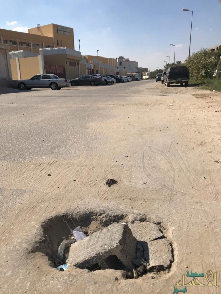 """مناشدة: حفر شارع """"حي اليعقوبي"""" تنتظر ضحية !!"""