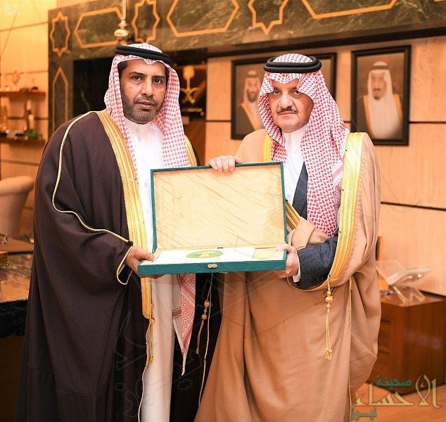 """الأمير """"سعود بن نايف"""" يستقبل مدير عام فرع وزارة البيئة والمياه والزراعة بالشرقية"""